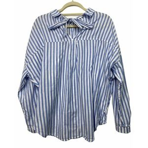 Zara Basic Collection Striped Tie Tunic Top